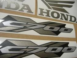 Honda NC700X 2012 silver stickers kit