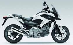 Honda NC700X 2014 white complete stickers kit