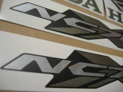Honda NC700X 2014 white decals kit