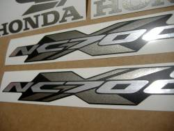 Honda NC700X 2015 red graphics kit