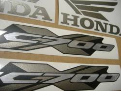 Honda NC700X 2013 red logo decals kit