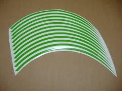 Kawasaki ZX6R Ninja green wheel stripes set
