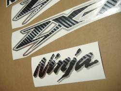 Kawasaki ZX12R Ninja carbon fiber decal set