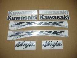 Kawasaki ZX12R brushed aluminium stickers set