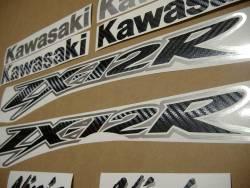 Kawasaki ZX12R Ninja carbon fiber decals kit