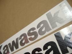 Kawasaki ZX12R brushed aluminium decals kit