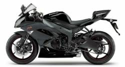Kawasaki ZX6R 2011 black complete sticker kit