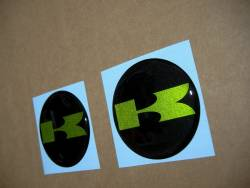 Kawasaki 3D gas tank gel badges