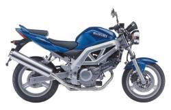 Suzuki SV650 2003 blue complete sticker kit