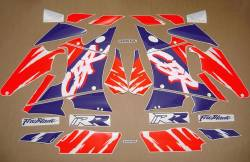 Honda Fireblade 893 93 white sticker kit