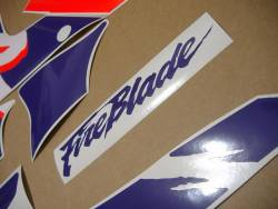 Honda 900RR SC28 1993 white purple logo graphics