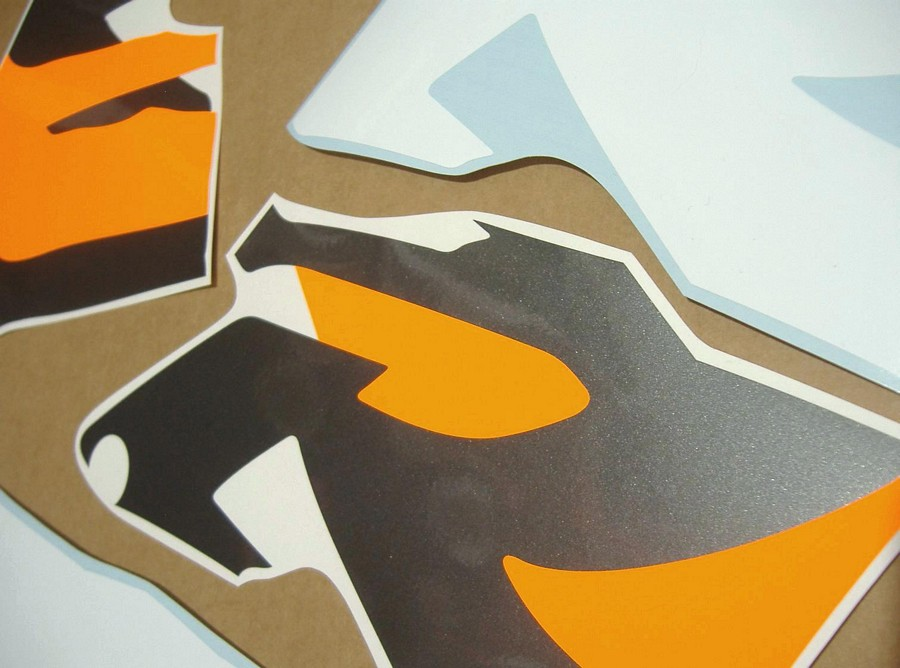 Honda Cbr 919rr Fireblade 1996 Decals Grey Orange White