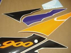 Honda CBR 900RR 1996 grey orange stickers set