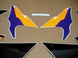 Honda Fireblade 919rr 1996 grey orange decals kit